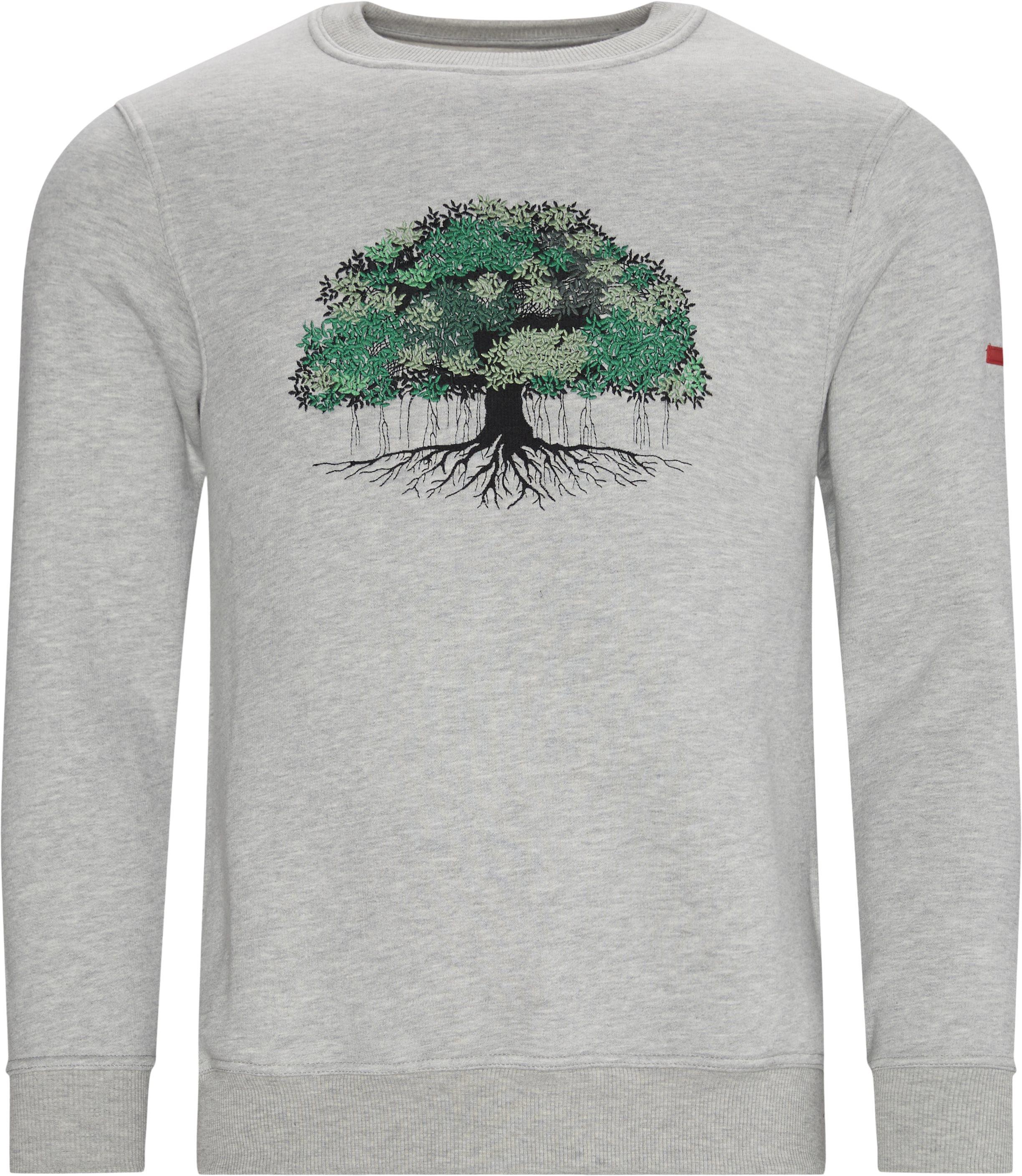 Tree Crewneck Sweatshirt - Sweatshirts - Regular - Grå